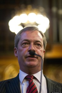 Farage sein Bärtchen vor drei Jahren © Joel Goodman/LNP