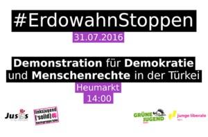 Aufruf zur Kölner Demonstration gegen Erdoğan