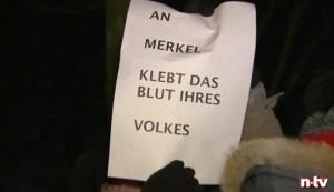 """Aggressivität pur: AfD-""""Trauerfeier"""" in Berlin am 22. 12. 2016 © n-tv"""