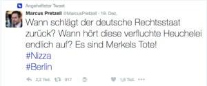Merkel, Blut, Tote: Darunter macht's die AfD nicht