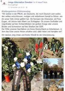 Weltkriege als Freiheitskampf | Rechtsextremismus bei AfD-Jugend Dresden im November 2016