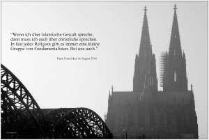 Past Franziskus zu Gewalt im Islam und im Christentum 2016