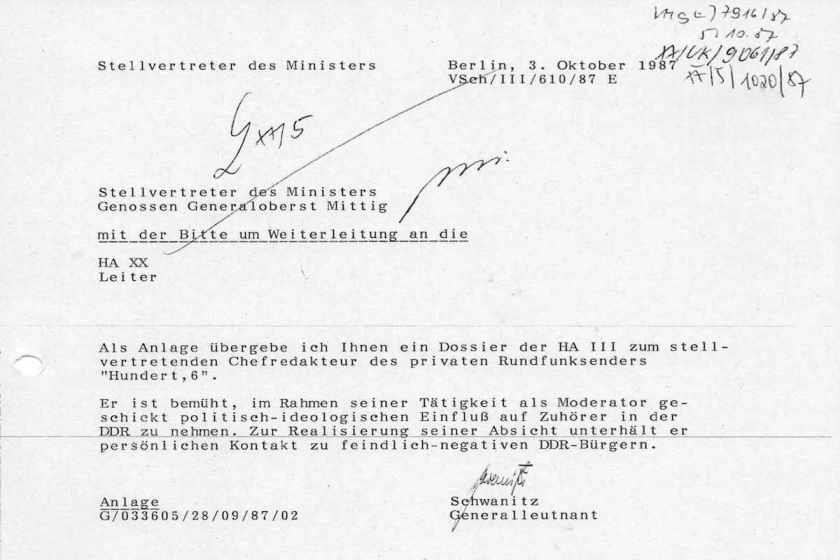 Auch ein Ergebnis der Mauer: Original Stasi-Akte