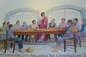 Chez Salton, producteur de mousseux, une Sainte Cène avec les producteurs émigrés de la Vénitie au 19ème siècle