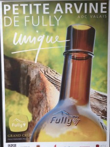 La campagne d'affichage d'avril 2013 des vins de Fully.