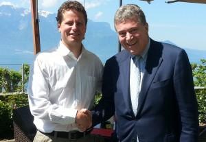 Emmanuel Estoppey, gestionnaire du site, et Jean-Jacques Gauer, à droite, président de la nouvelle association LPm.