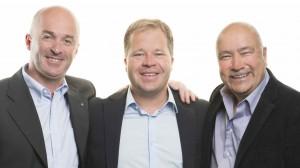 De g. à dr., Léonard Perraudin, le nouveau président Jean-Pierre Grichting et le directeur général depuis 2001, Roland Vergères, 56 ans.