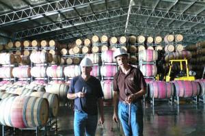 A Barossa Valley, J.-M. Amez-Droz (à g.) et Doug Lehmann (mars 2008).