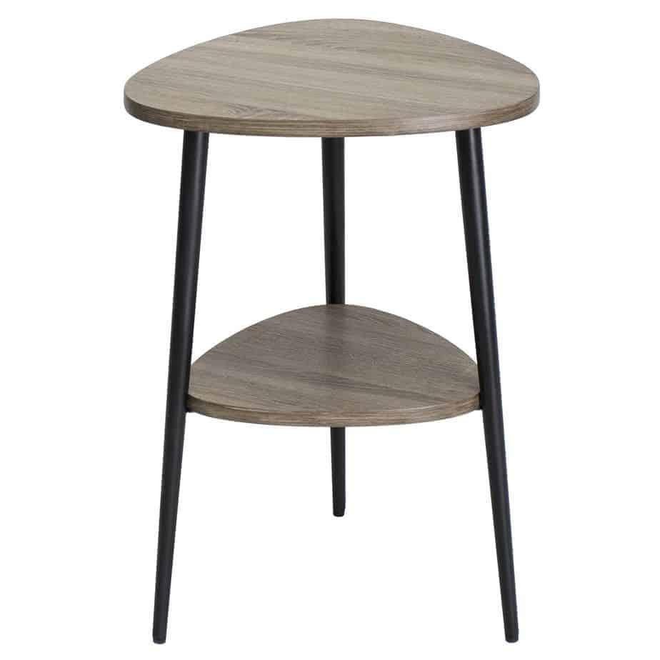 Vigo Side Table With Shelf Oak Style Veneer Thompsons Lighting Interiors