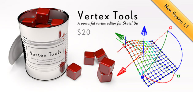 Vertex Tools for SketchUp — $20