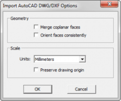 SketchUp Import Options