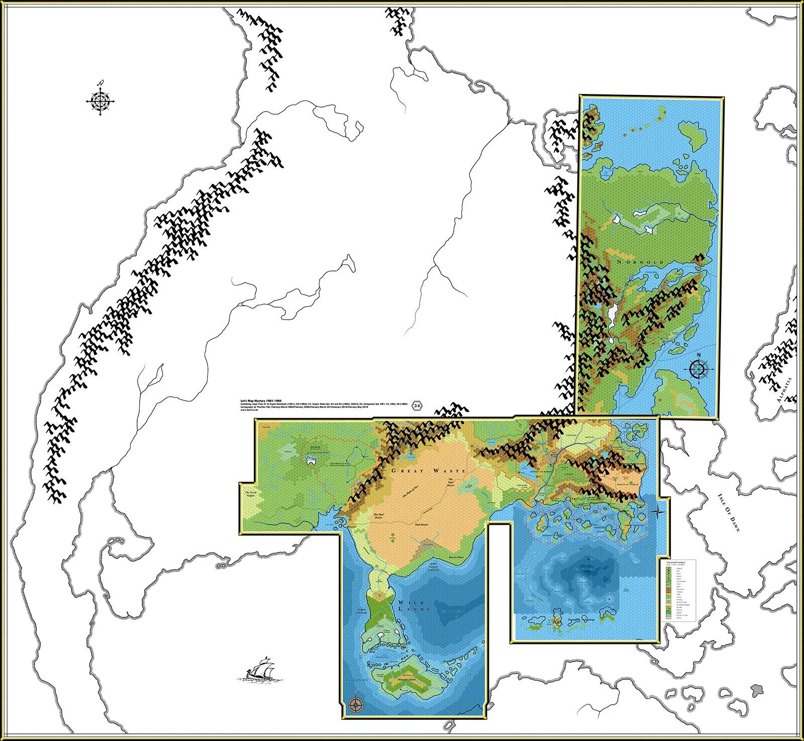 Let's Map Mystara 1984
