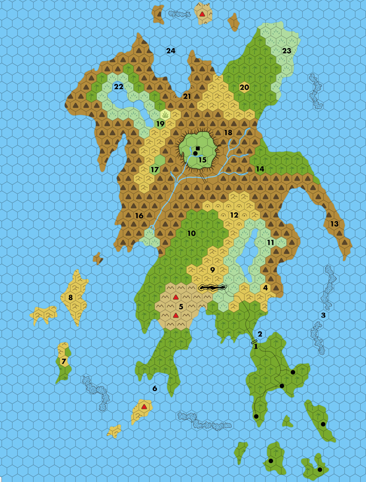 Hollow World 40 Miles Per Hex