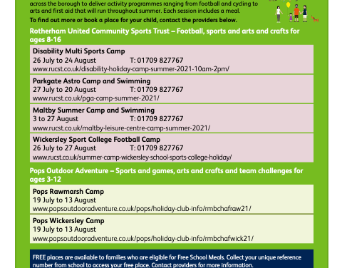 Healthy Holiday Clubs
