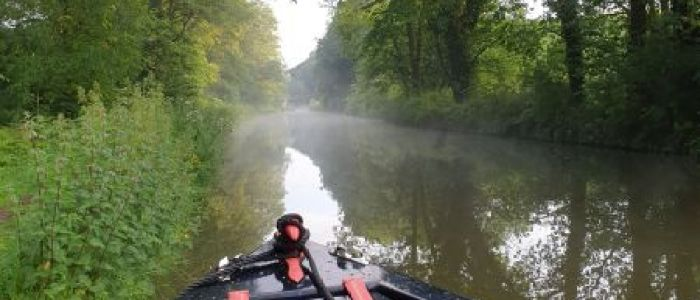 Misty morning boat hire cheshire