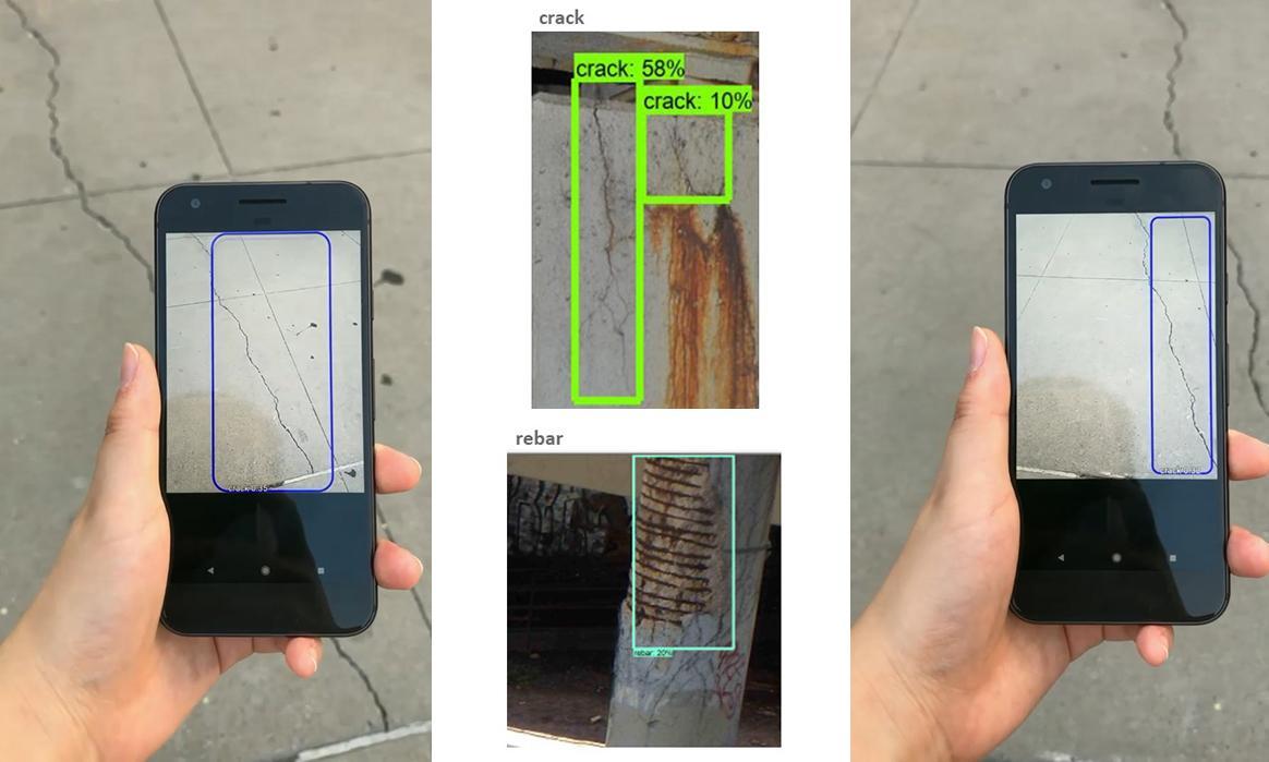 Inspection of cracks using T2D2