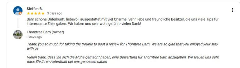 Steffen B Google review
