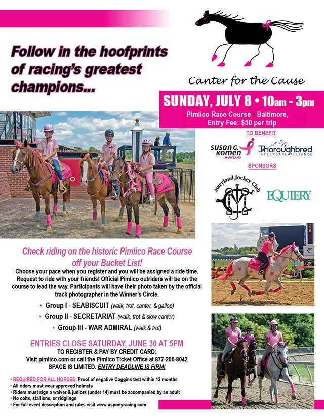 2018 Canter for a Cause flyer