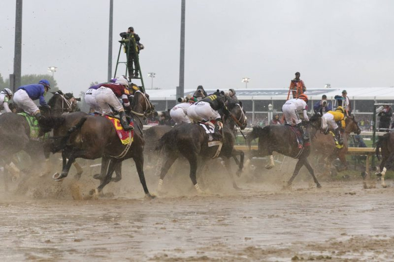 The 2018 Kentucky Derby field enters the first turn