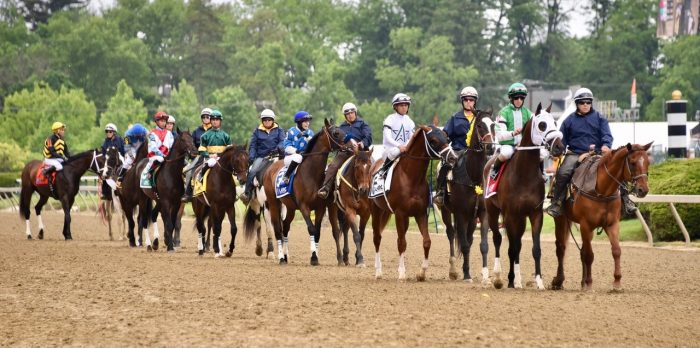 Preakness post parade at pimlico race course