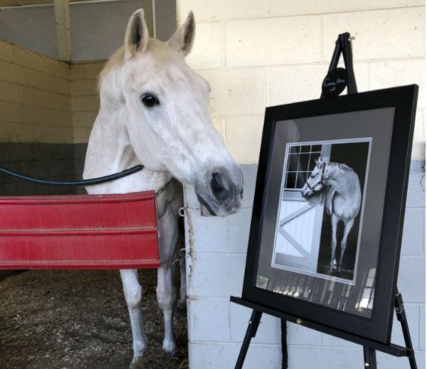 Evening Attire with his portrait
