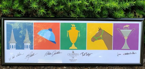 Champion's Day 2019 signed poster