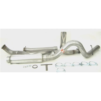 dynomax 4 stainless steel turbo back exhaust system 99 03 ford powerstroke 7 3l 39376