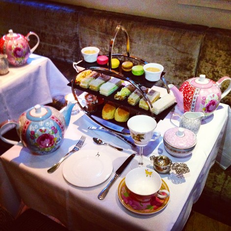 places to get boozy afternoon tea in london