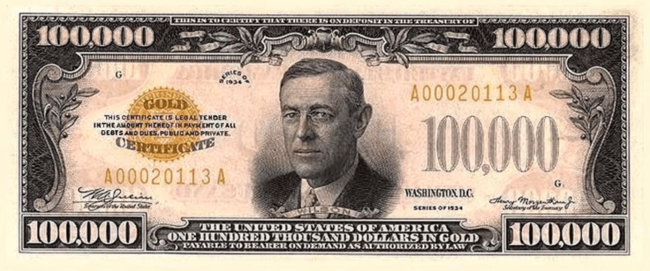 $100,000 Bill