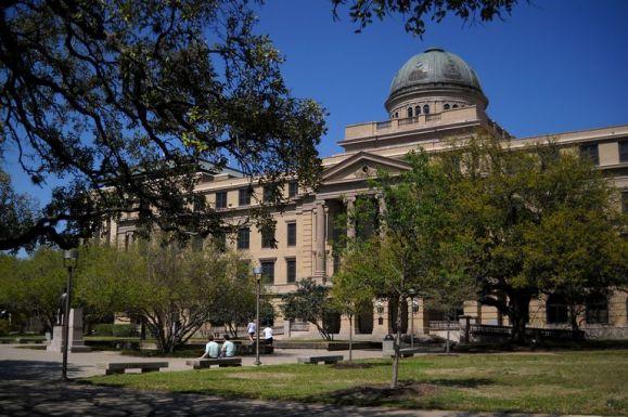 Texas A&M campus administrative building