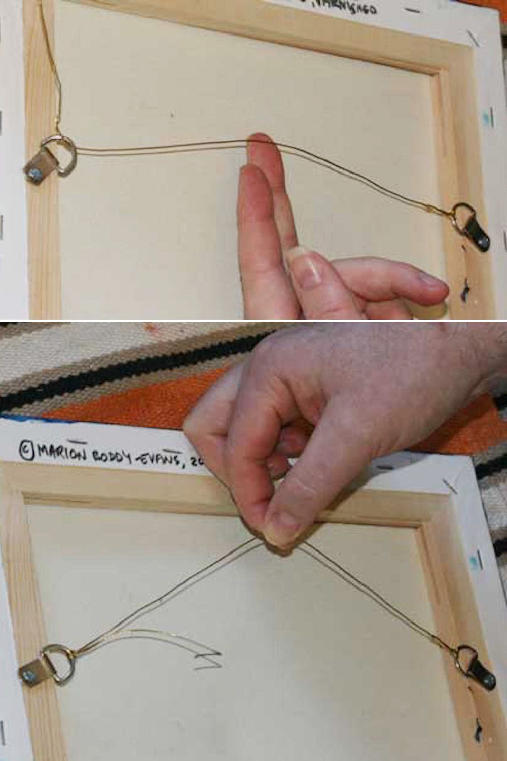 Picture Frame Hanging Wire Knot | Siteframes.co