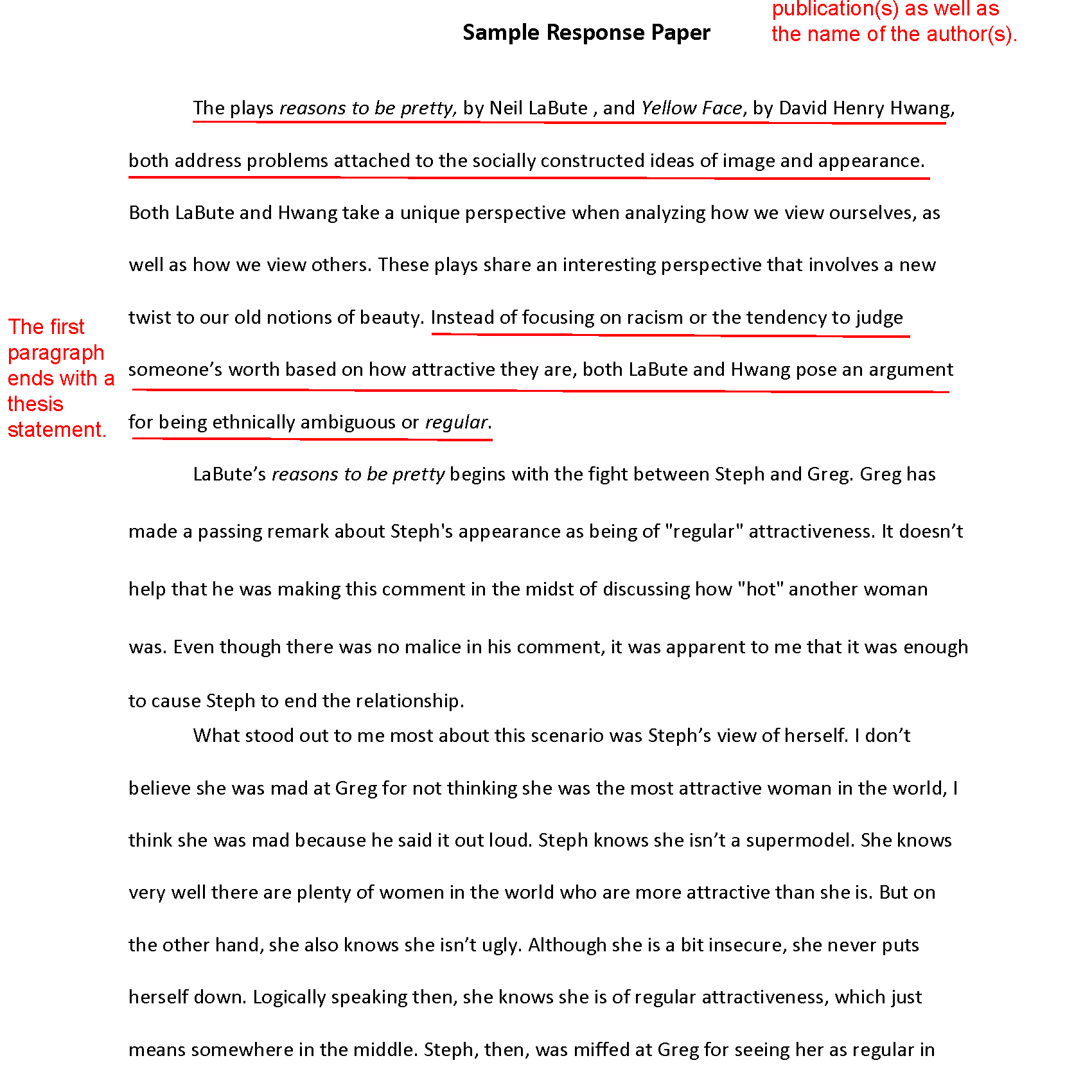 Reply Essay Example