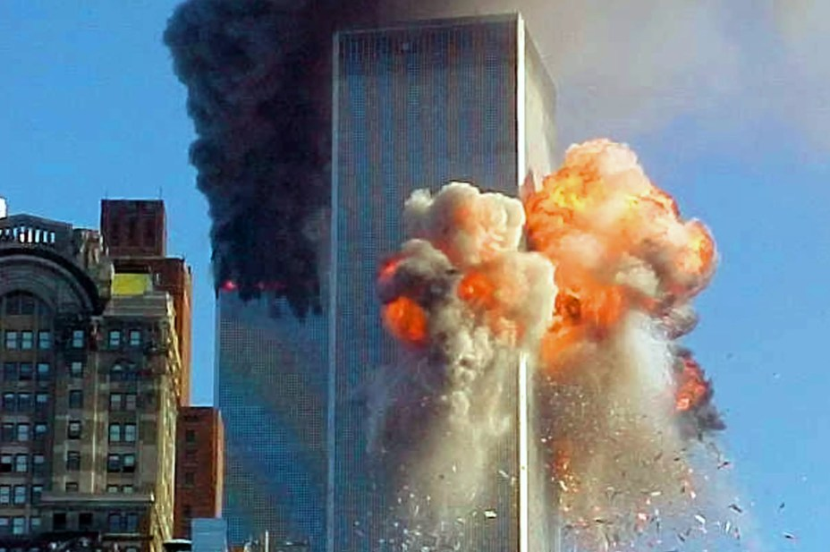 Twin Towers Aflame on September 11, 2001