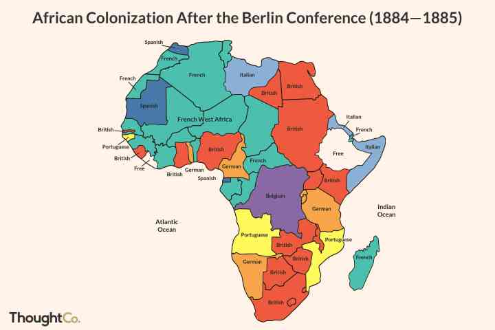 Berlin Conference Africa Colonization Map.Berlin Conference 1885
