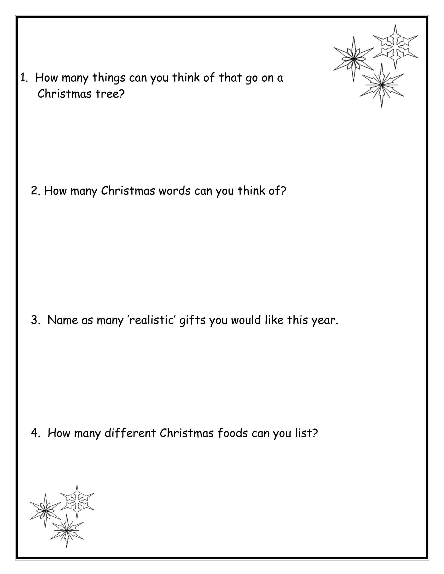 Gallery Of Christmas Tree Graphic Organizer