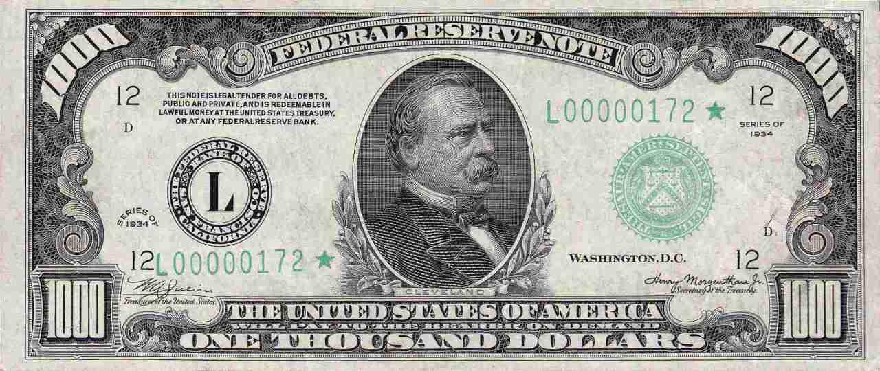 $1,000 Bill