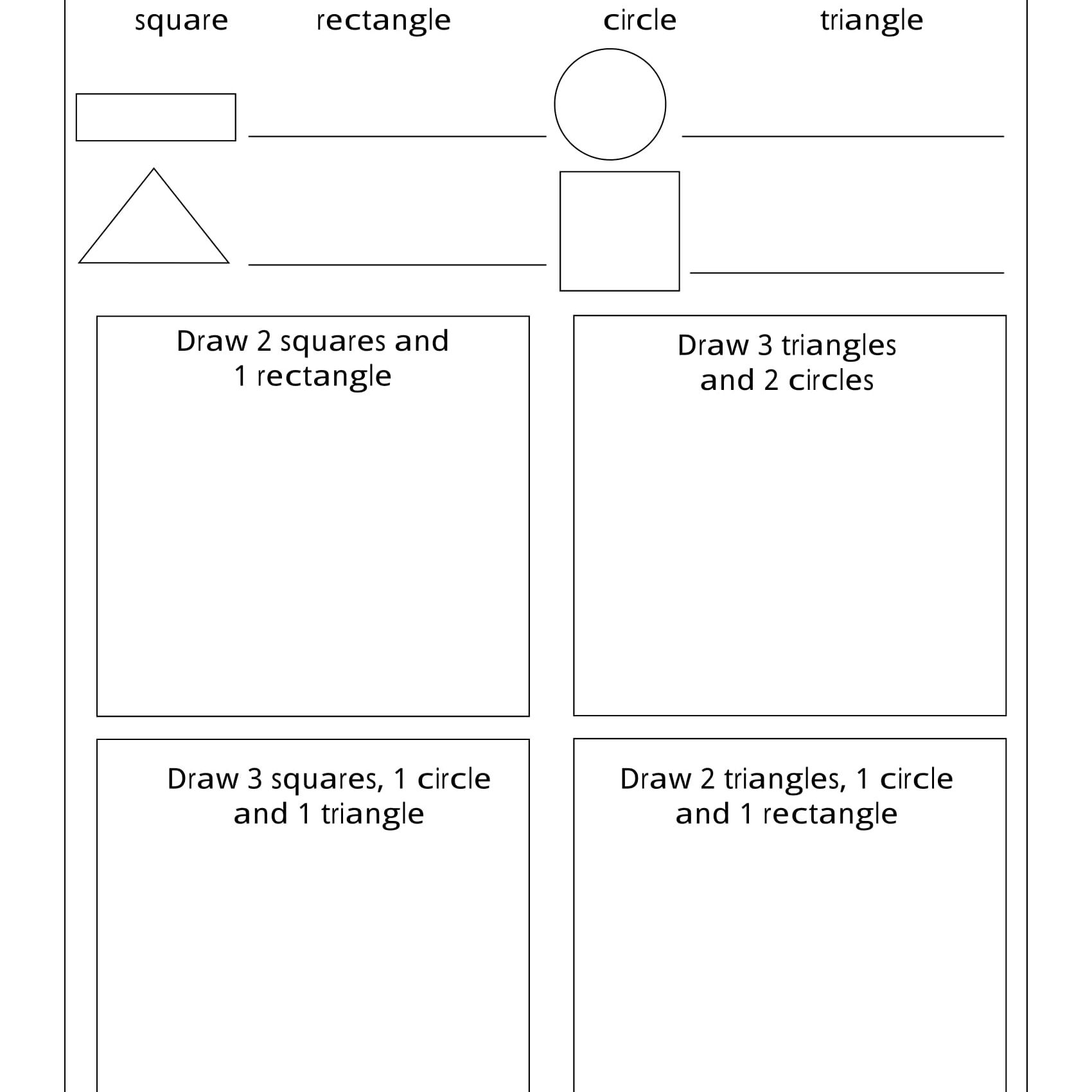 70 Free Grade 1 Worksheets Shapes Printable Docx