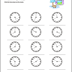 These Math Worksheets Help Students Tell Time To 10 Five