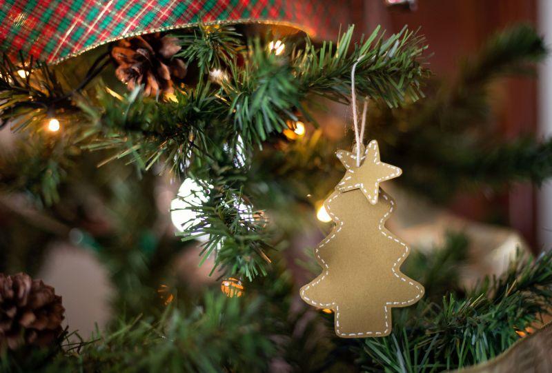Handmade Christmas Ornament Hanging On The Tree