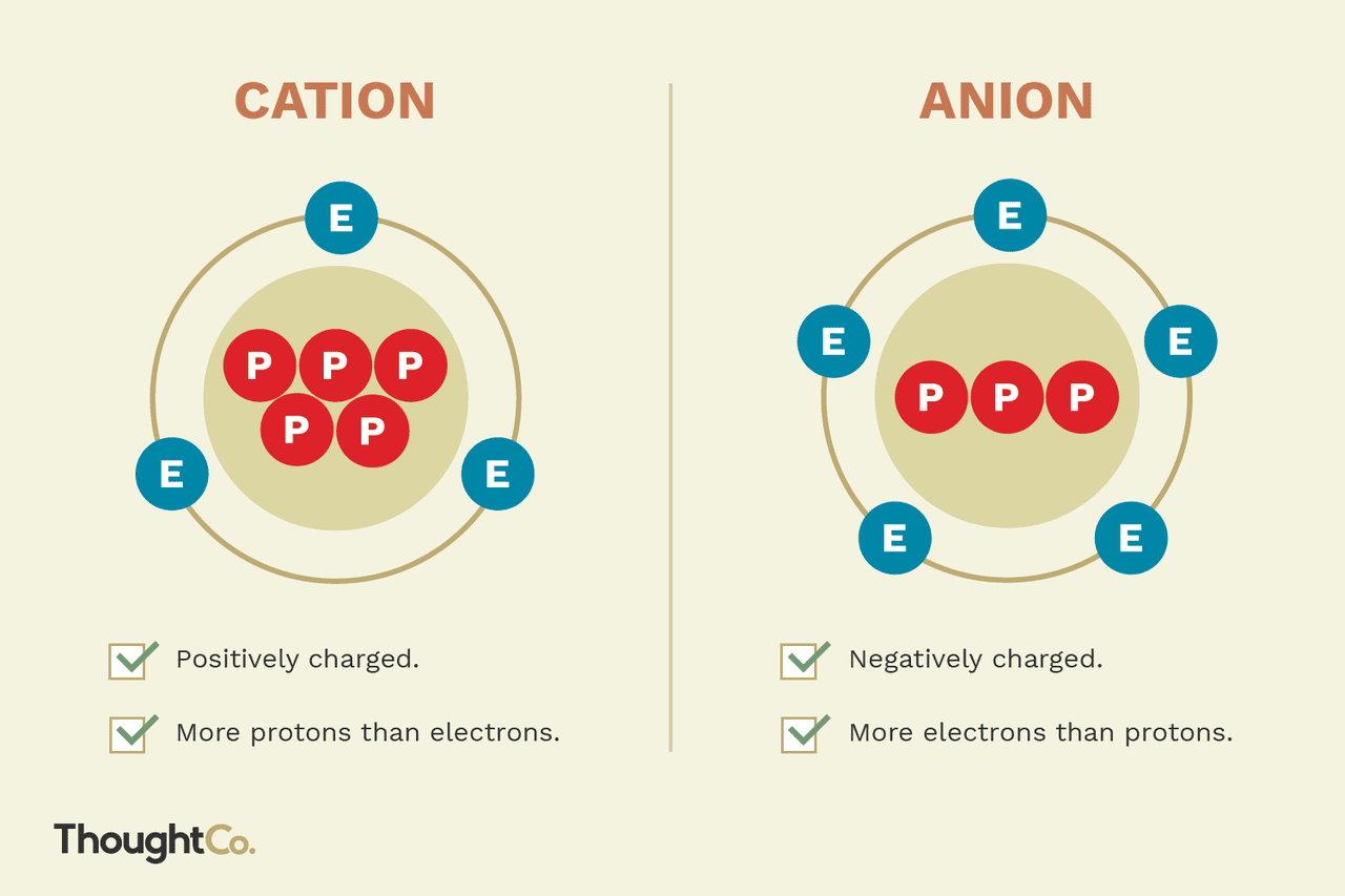 The Difference Between A Cation And An Anion