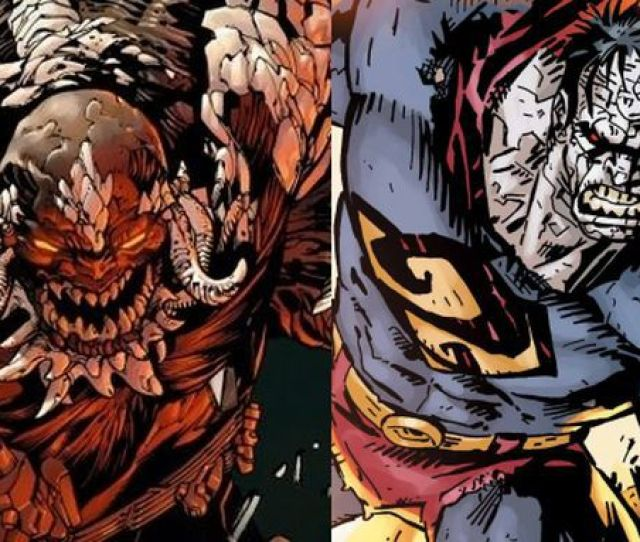 Comic Panel Of Doomsday And Bizarro