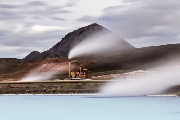 Estação de energia geotérmica