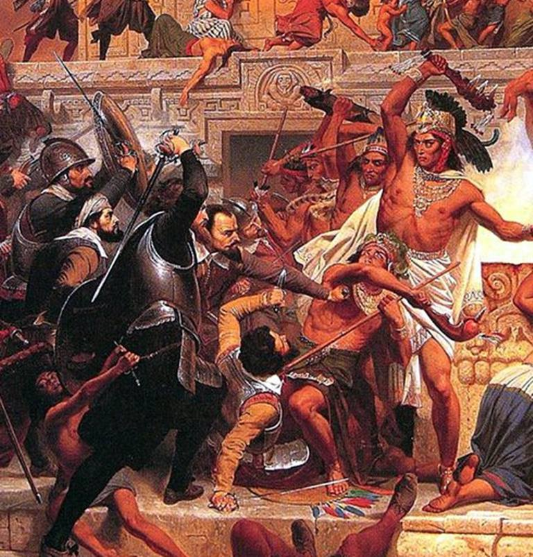 Image result for aztec vs spanish