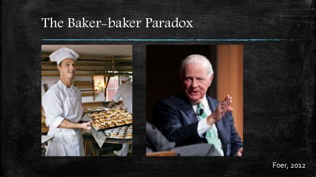 It's easier to remember that someone works as a baker than that they are named Baker.