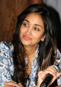 Indian Bollywood actress Jiah Khan addre
