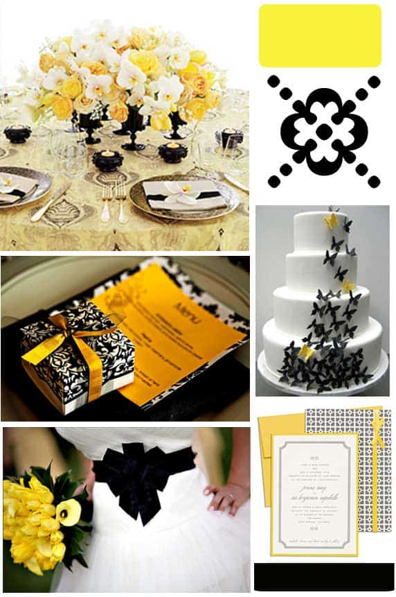 This Purple And Gold Fl Wedding