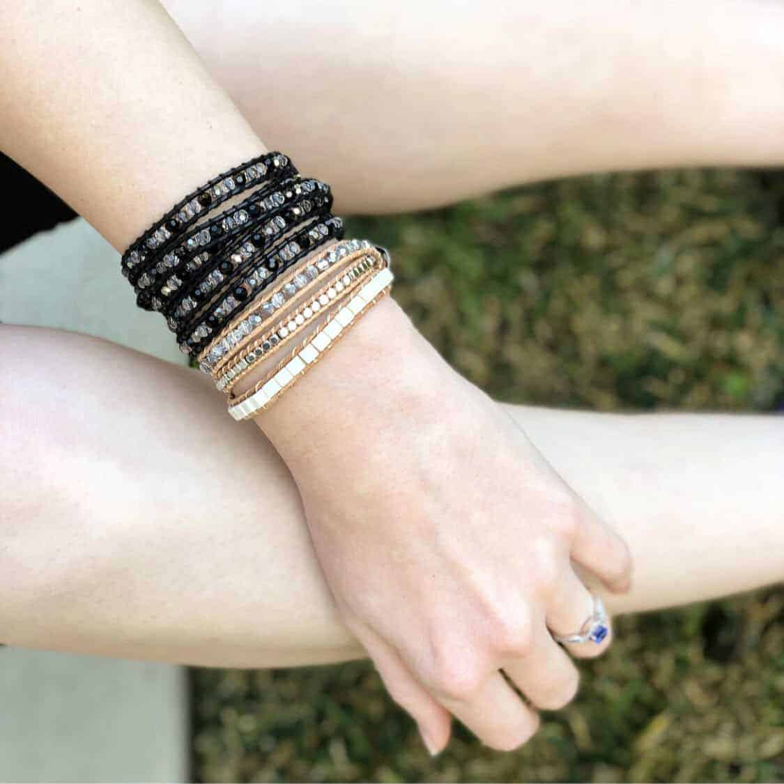 Accessorizing with Victoria Emerson Wrap Bracelets