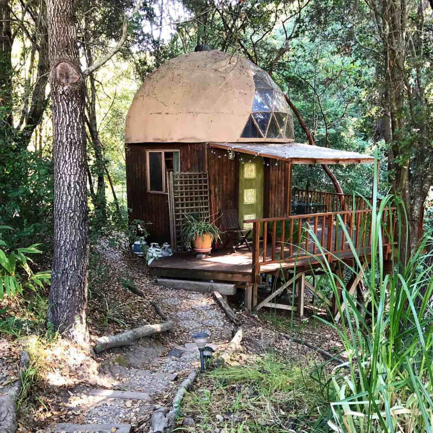 Babymoon in Aptos California at the Mushroom Dome Cabin