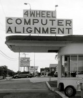 Front End Wheel Alignment Sign