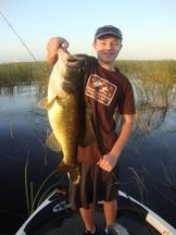 Michael Figliuolo with 8 Pound Bass